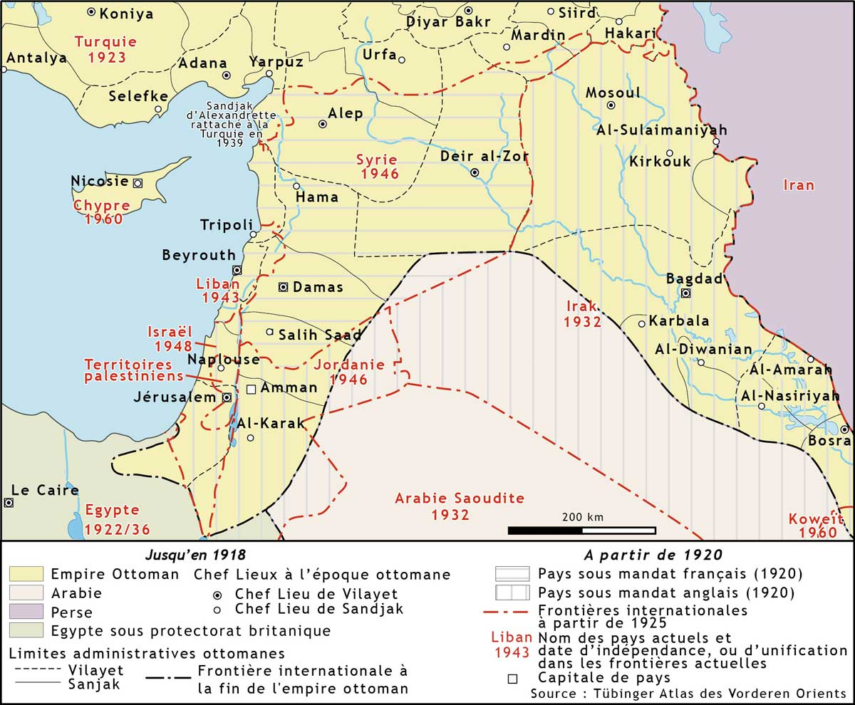 Image map Syria French Mandate