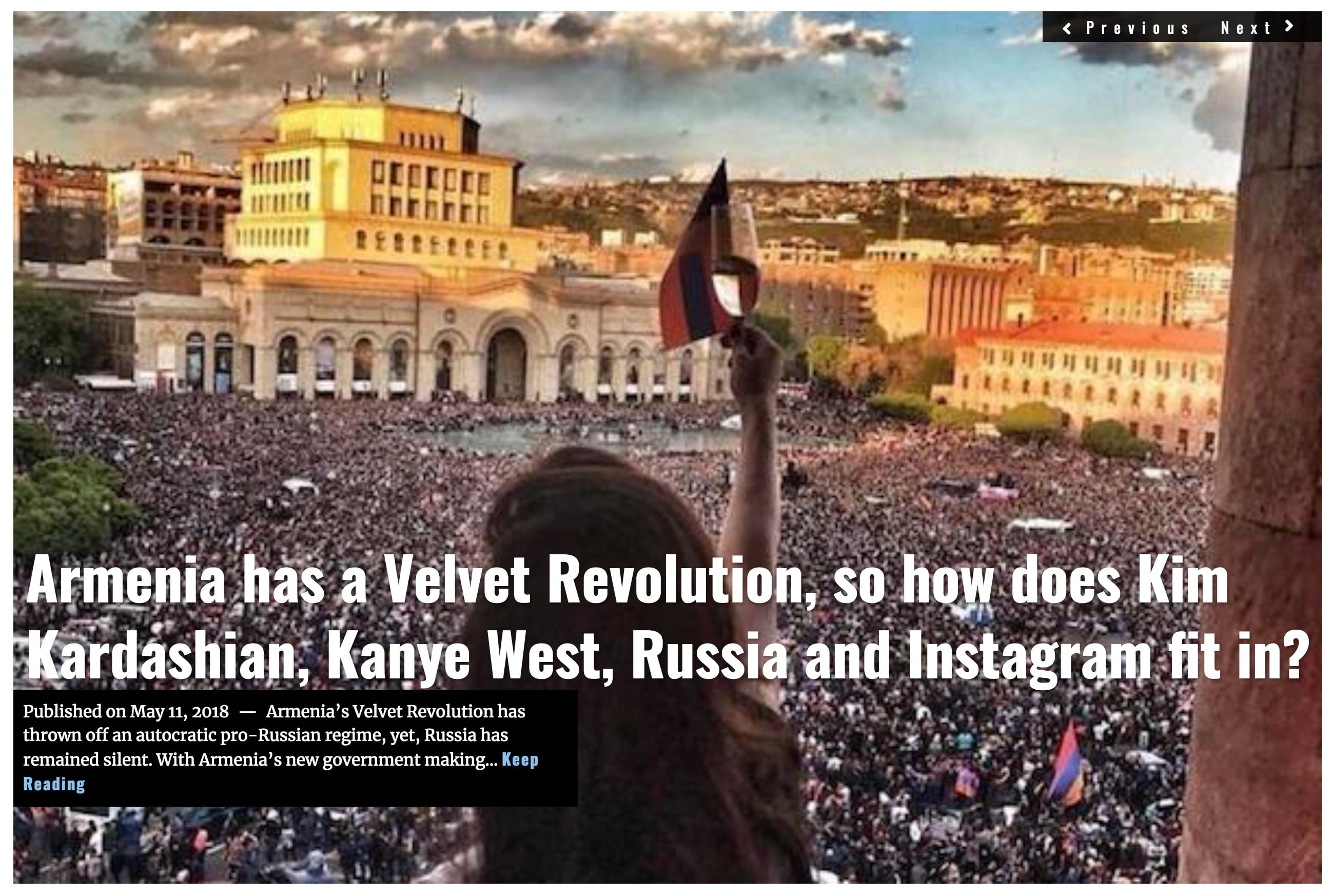 Image Lima Charlie News Headline Armenia Velvet Revolution MAY 11 2018