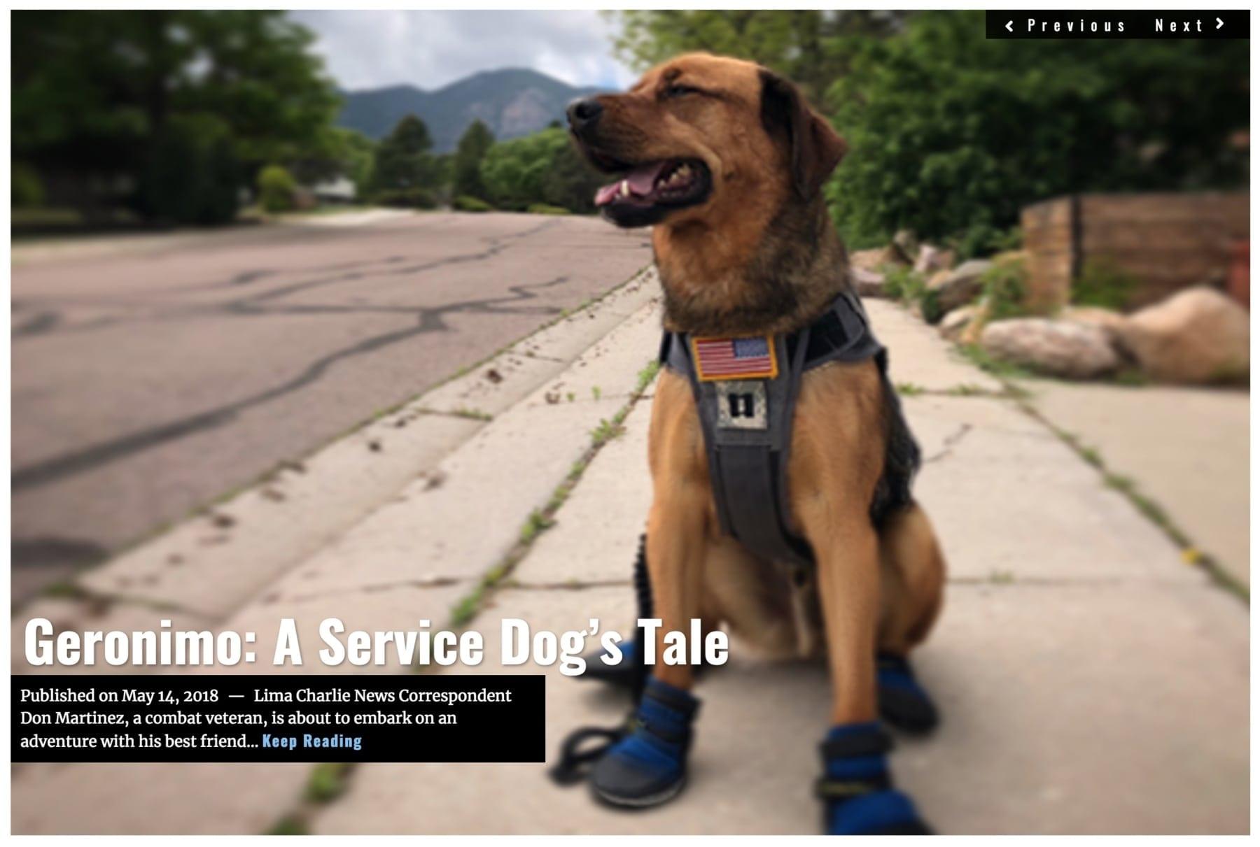 Image Lima Charlie News Headline Geronimo A Service Dogs Tale D.Martinez MAY 14 2018
