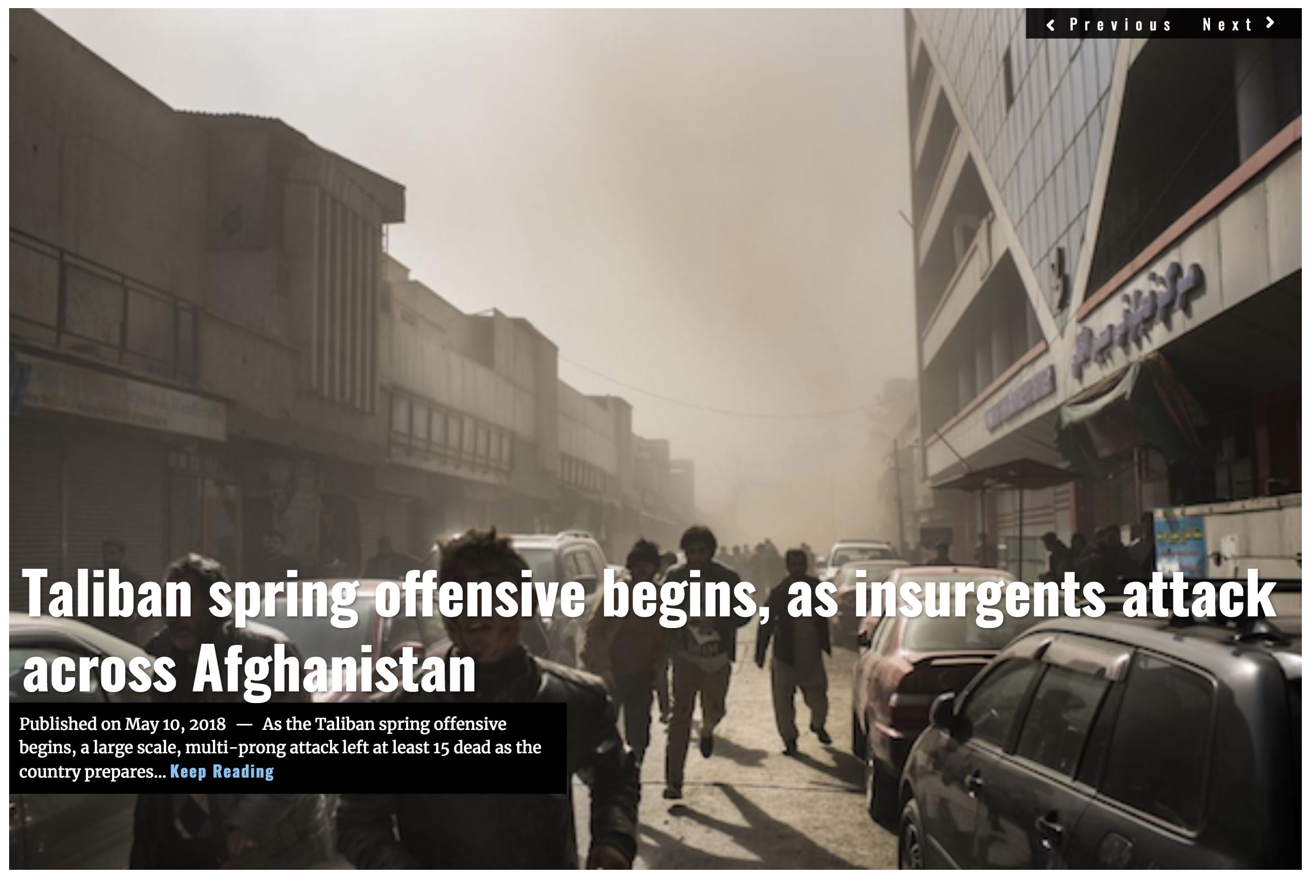 Image Lima Charlie News Headline Taliban Spring Offensive J.Sjoholm MAY 10 2018