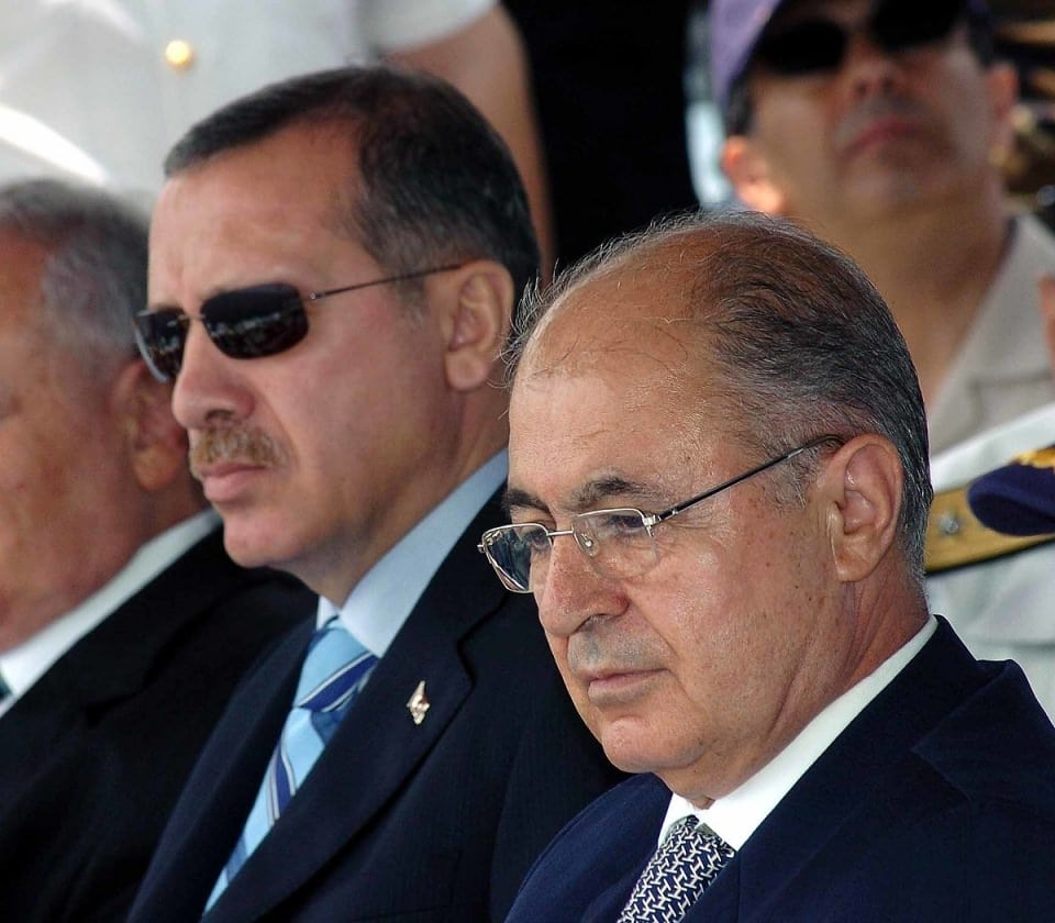 Image [President Ahmet Necdet Sezer (r) and Prime Minister Recep Tayyip Erdogan (l) at annual Deniz Kurdu naval exercise, March 24, 2007]
