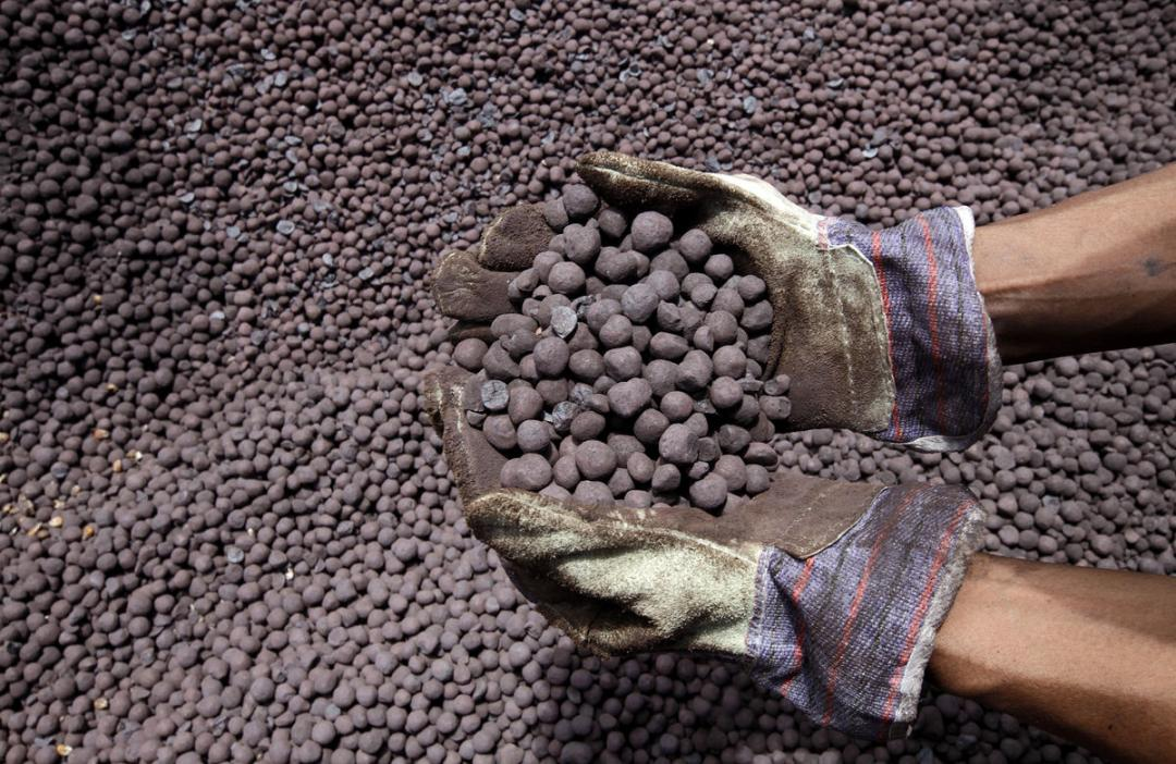 Image Iron ore pellets