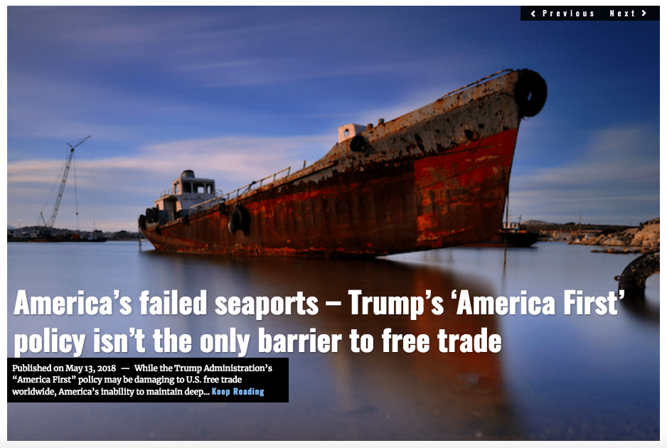 Image Lima Charlie News Headline America's Failed Ports G.Busch MAY 13 2018