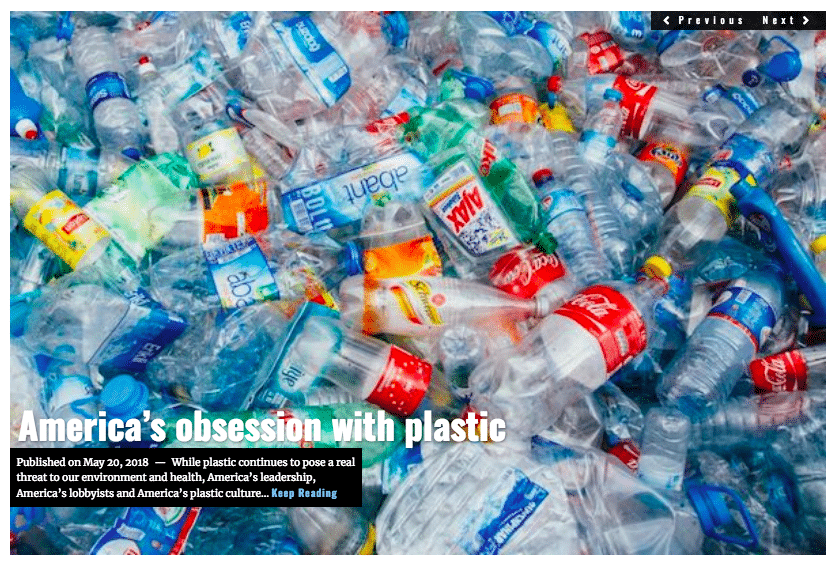 Image Lima Charlie News Headline Americas obsession with plastic