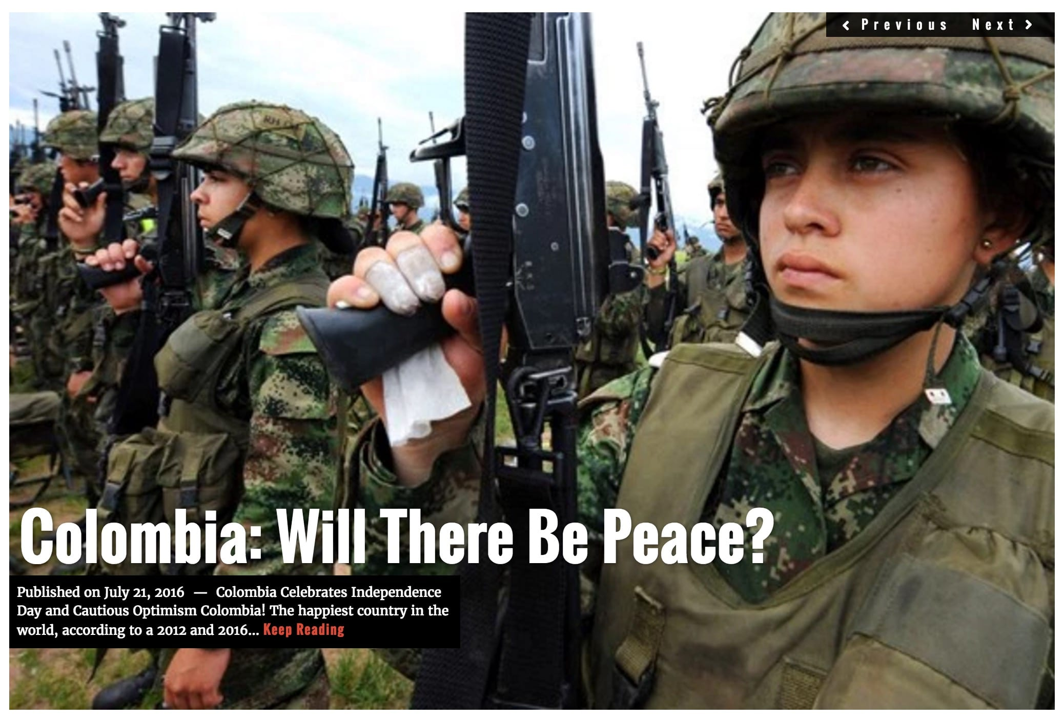 Image Lima Charlie News Headline Colombia Peace JUL 20 2016
