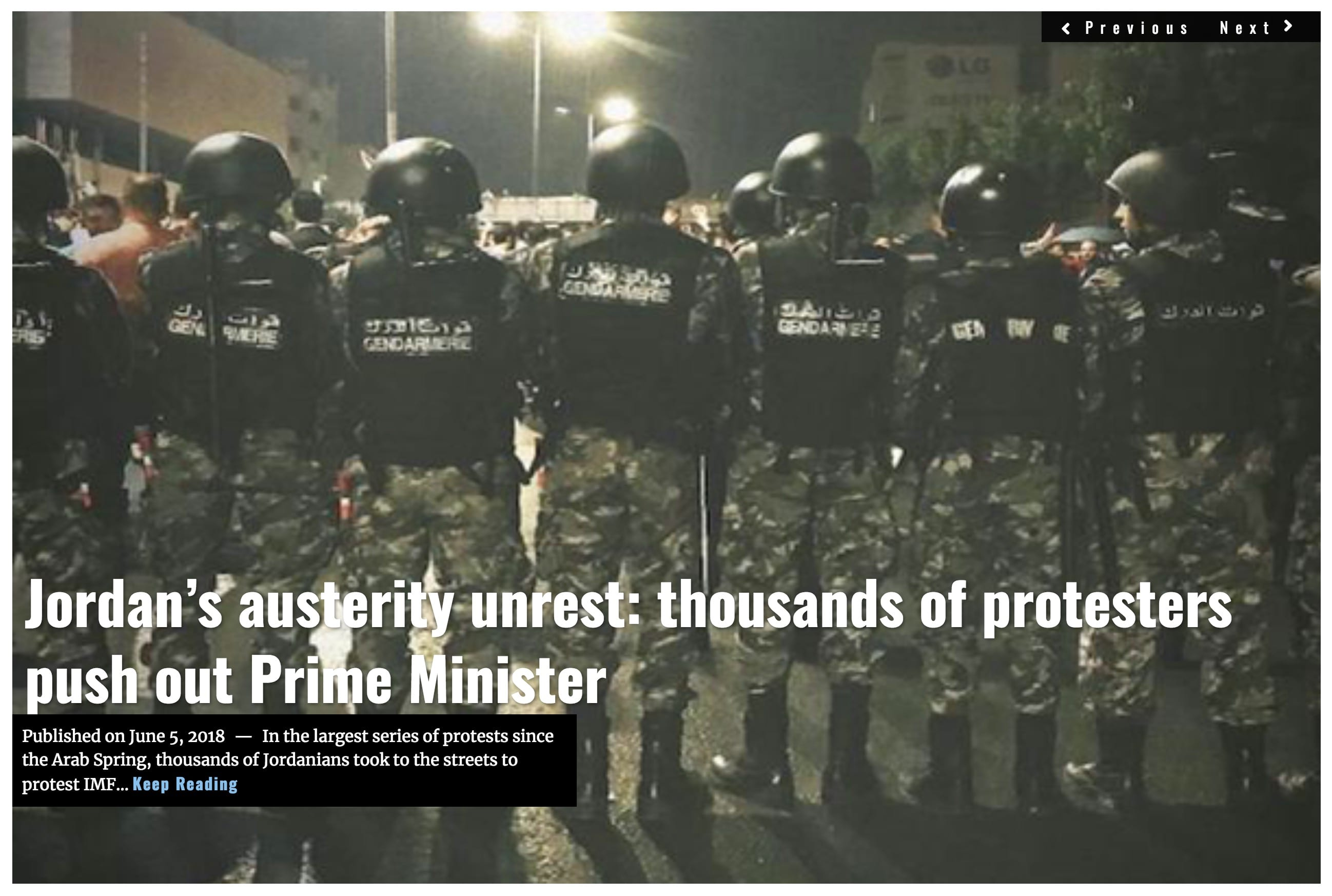 Image Lima Charlie News Headline Jordan Austerity Protests JUN 5 2018