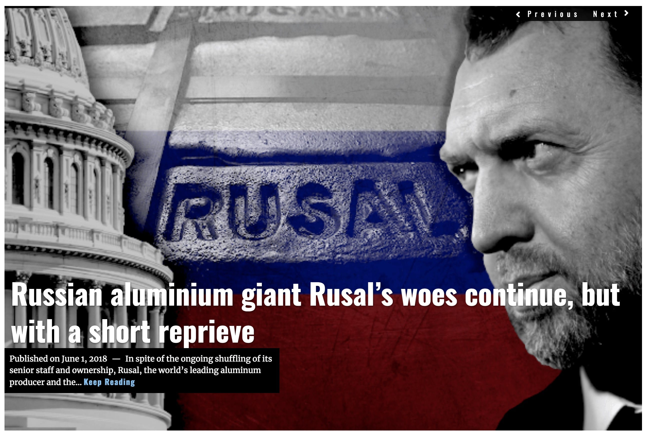 Image Lima Charlie News Headline Rusal's woes JUNE 1 2018