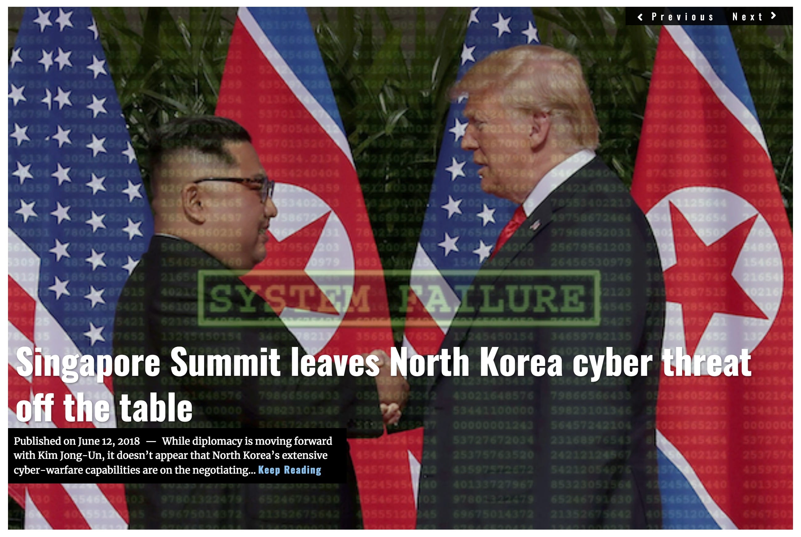image Lima Charlie News Headline Singapore Summit Cyber JUN 12 2018