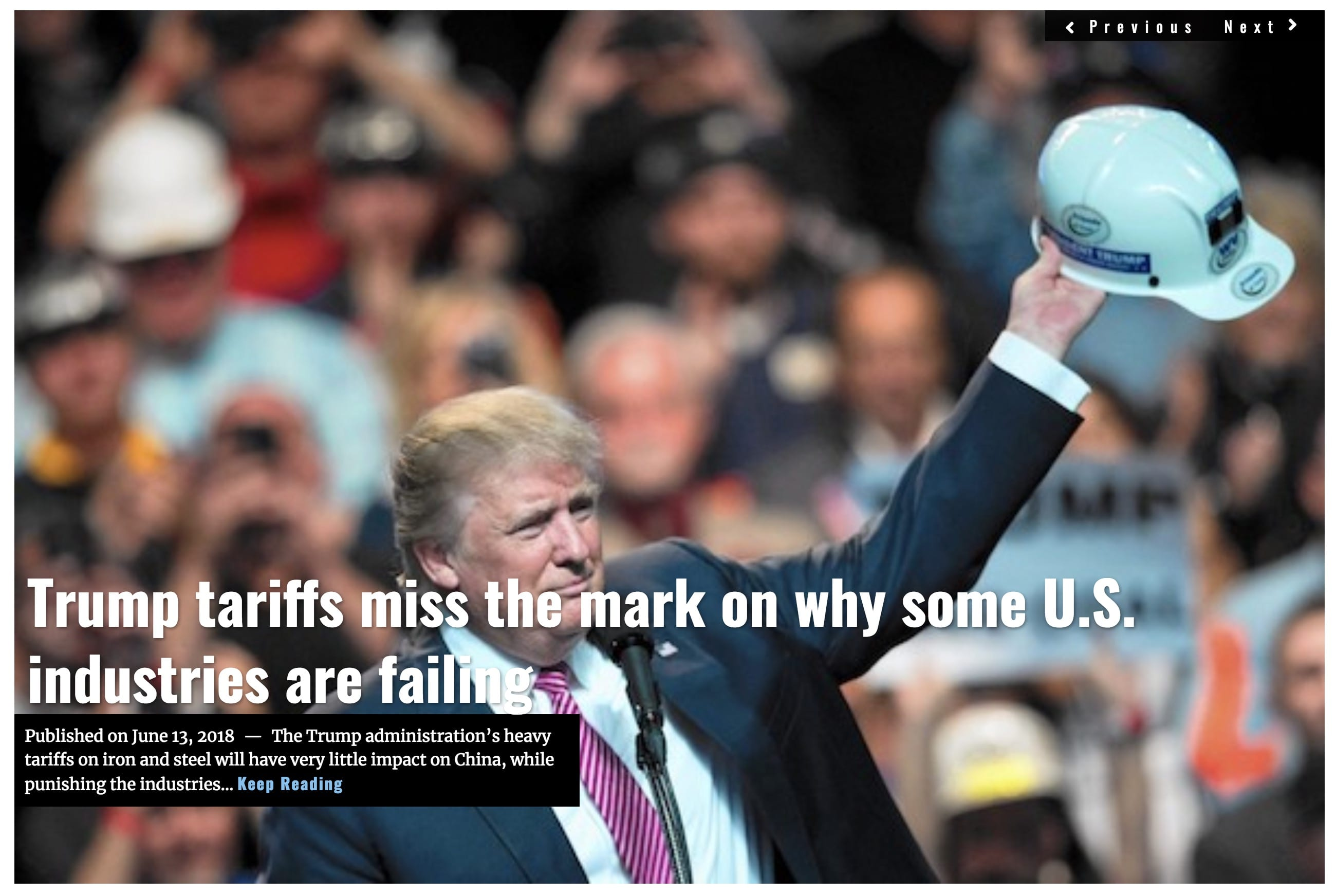 Image Lima Charlie News Headline Trump tariffs miss the mark JUN 13 2018