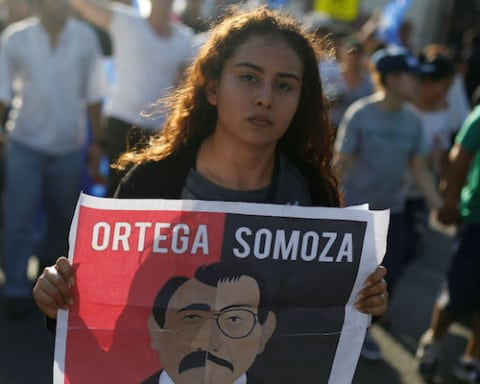 Image U.S. immigration crisis could worsen if Nicaragua fails to hold it together [Lima Charlie News][Photo: Jorge Cabrera/Reuters]