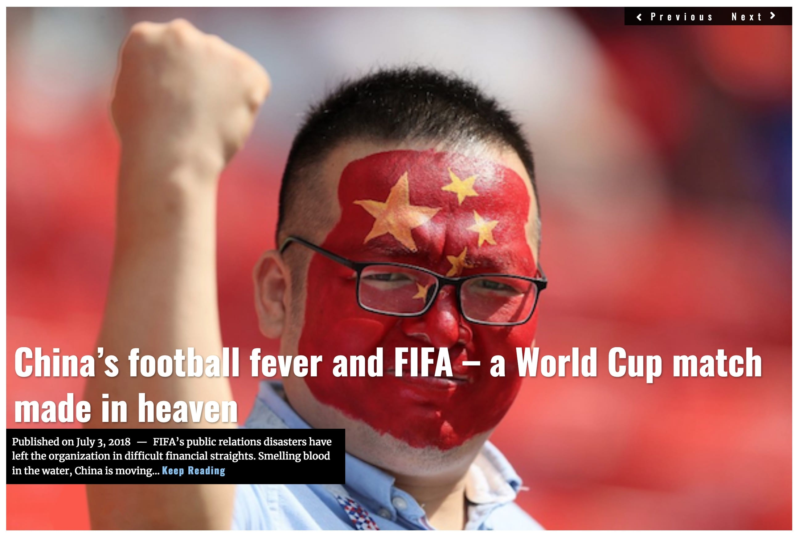 Image Lima Charlie News Headline China's football fever and FIFA JUL 3 2018