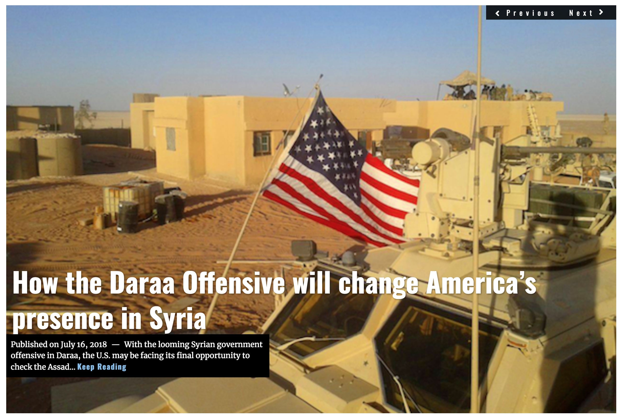 Image Lima Charlie News Headline Daraa Offensive Syria JUL 16 2018