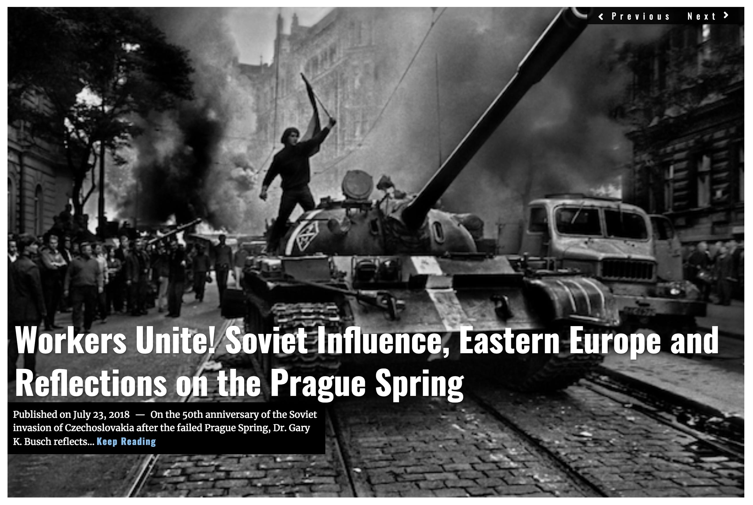 Image Lima Charlie News Headline Prague Spring JUL 23 2018