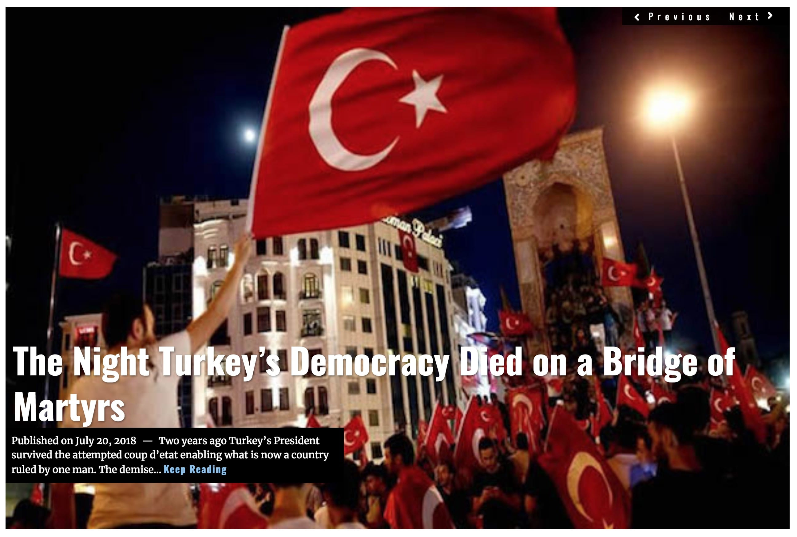 image Lima Charlie News Headline Turkey Bridge of Martyrs JUL 20 2018