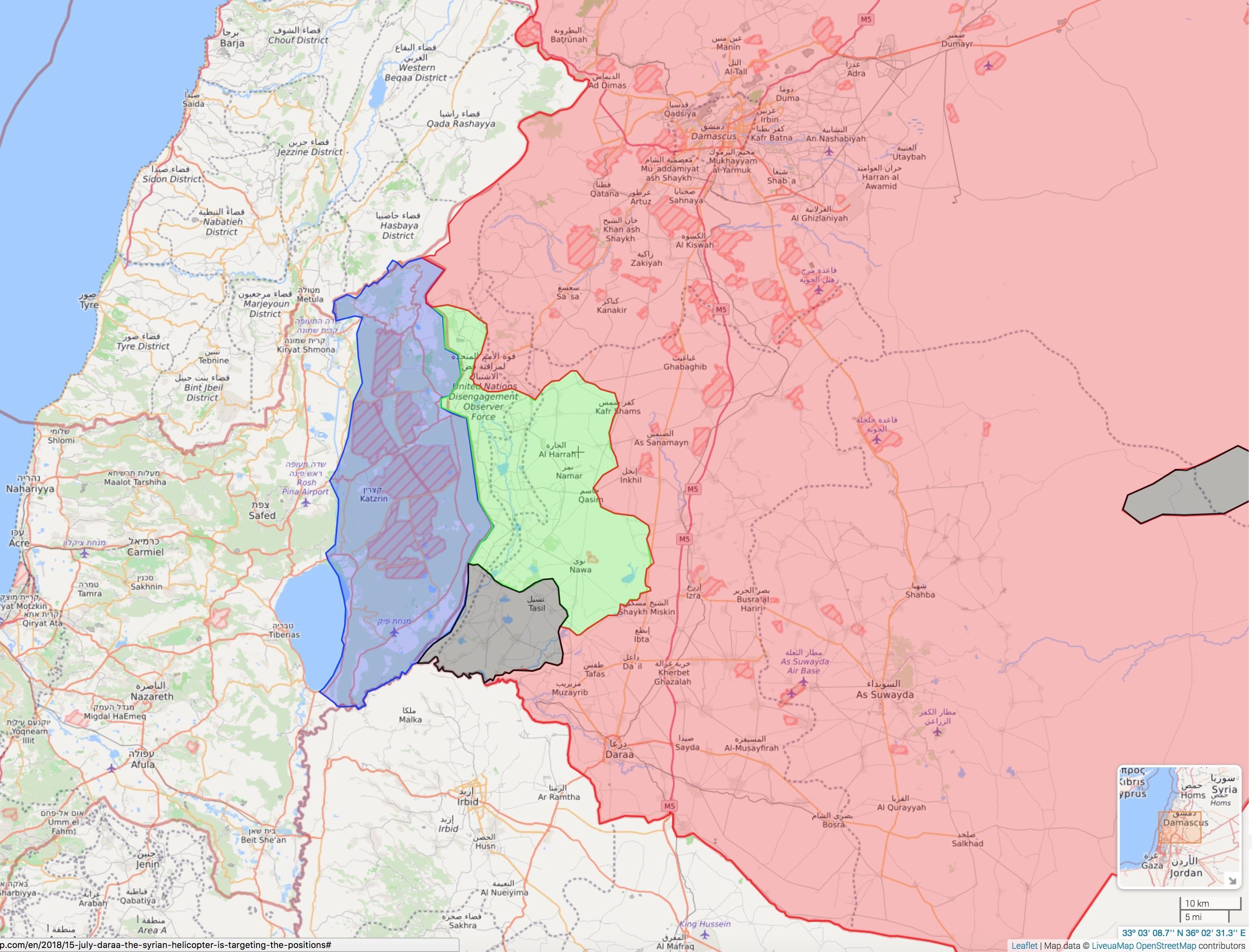 Image map [Daraa, Syria, via https://syria.liveuamap.com/]