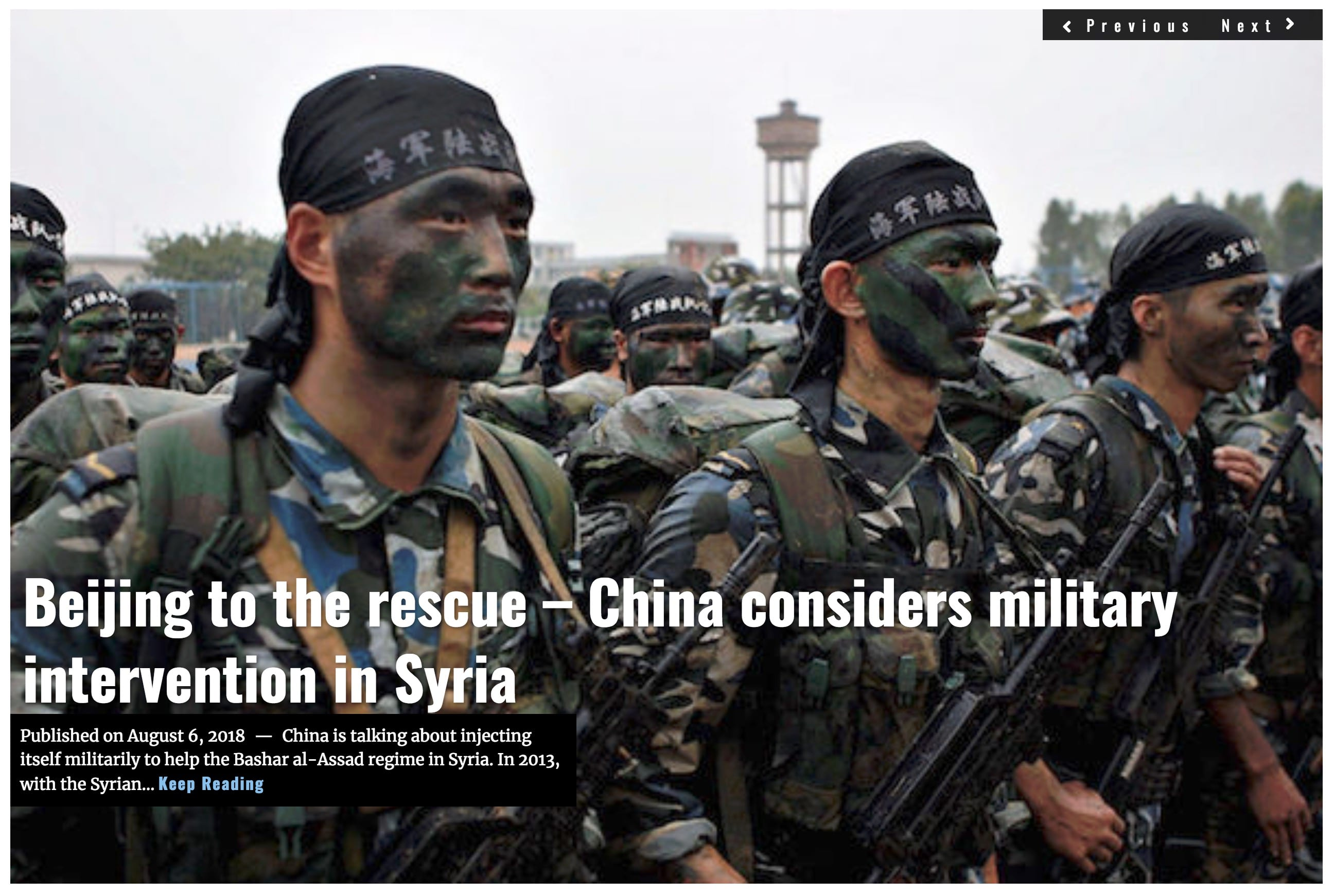 Image Lima Charlie News Headline Beijing to the Rescue - China Syria AUG 6 2018