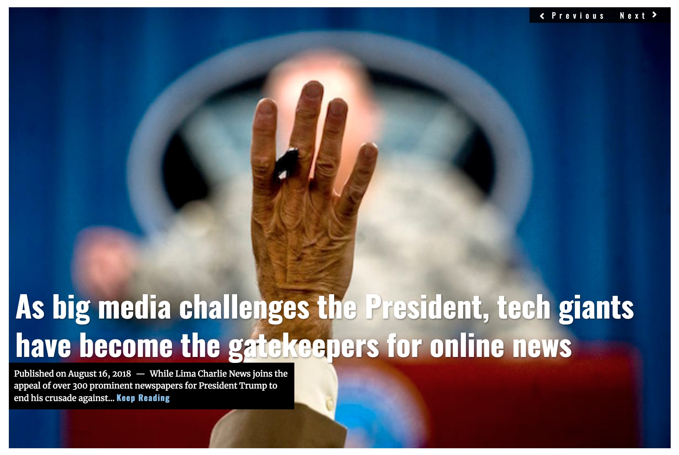 Image Lima Charlie News Headline Fake News Online D.Lynch AUG 16 2018