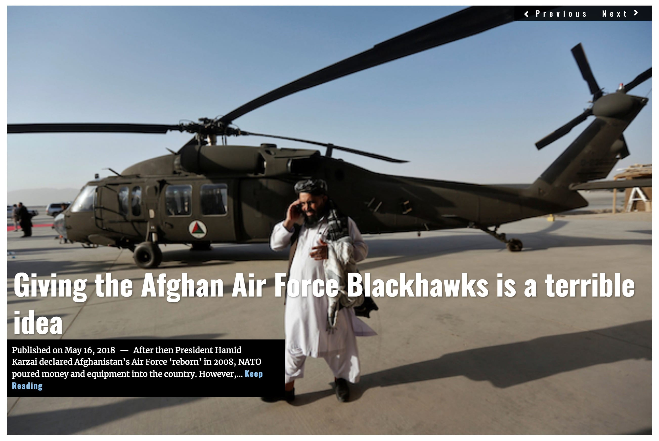 Image Lima Charlie News Headline Giving the Afghan Air Force Blackhawks is a terrible idea MAY 16 2018 (1)