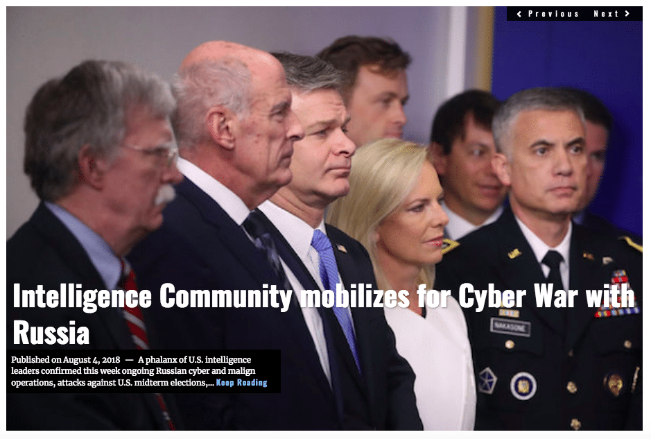 Image Lima Charlie News Headline Intelligence Community Cyber War Russia AUG 4 2018