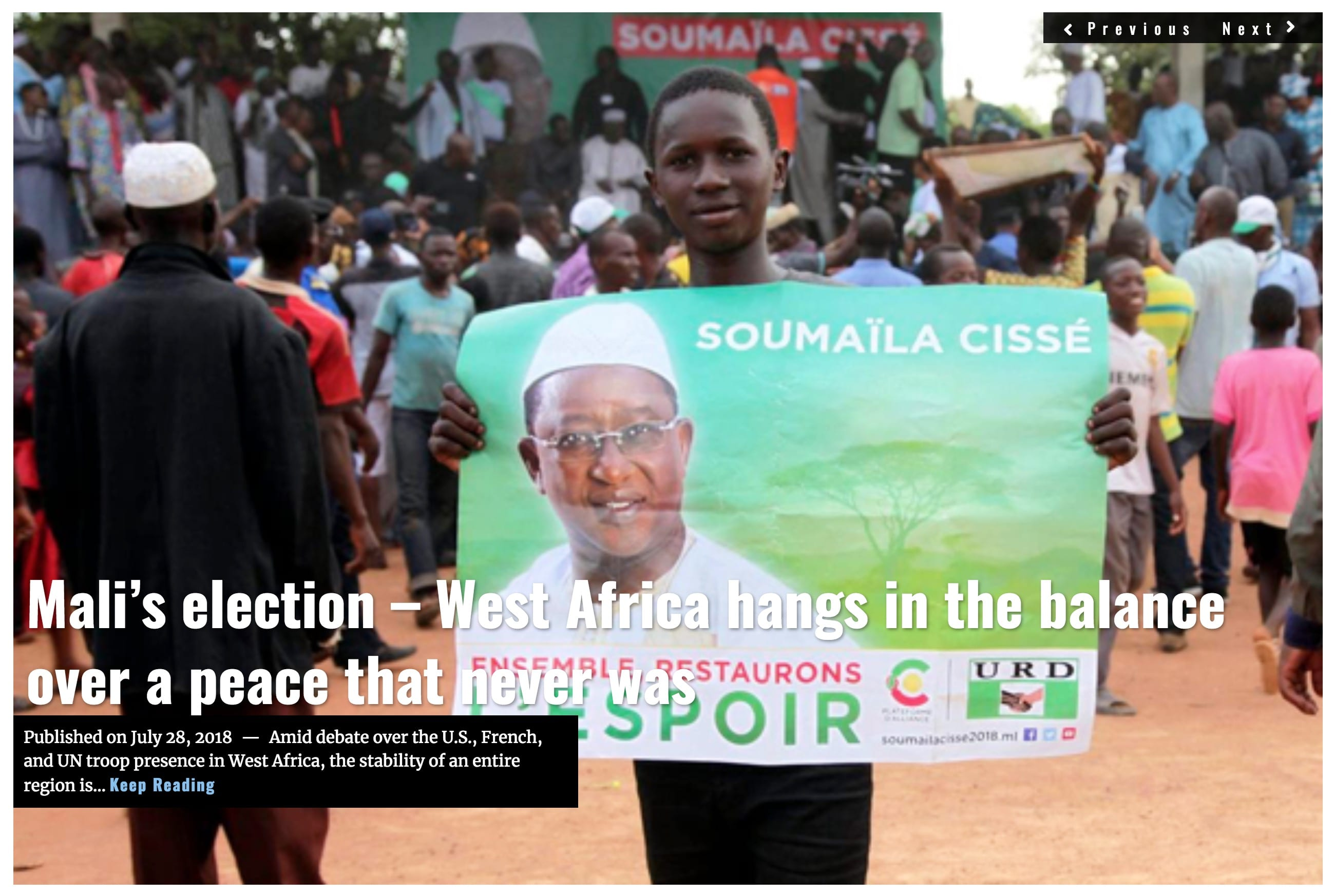 Image Lima Charlie News Headline Mali election JUL 28 2018