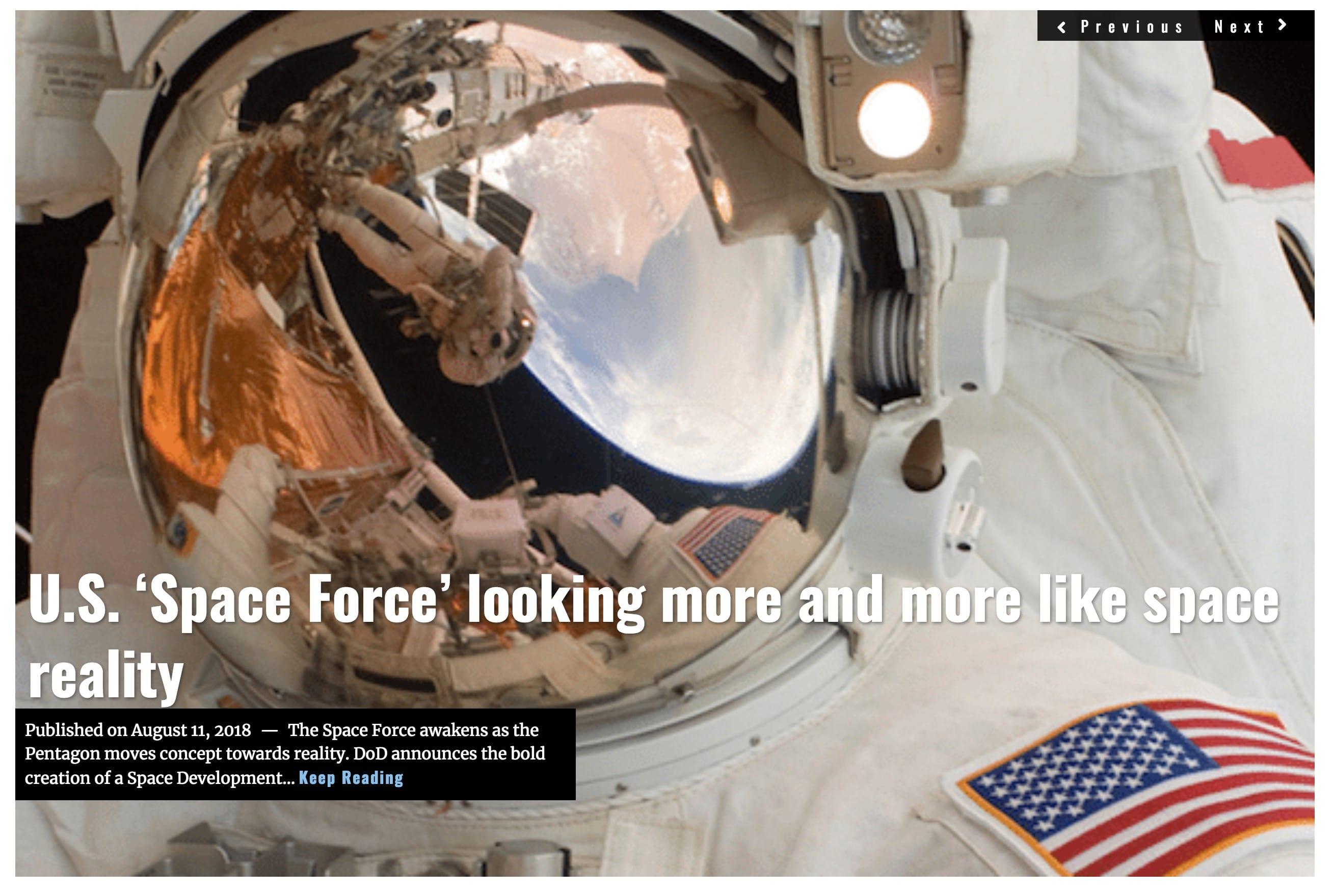 Image Lima Charlie News Headline Space Force M.Korzen AUG 10 2018