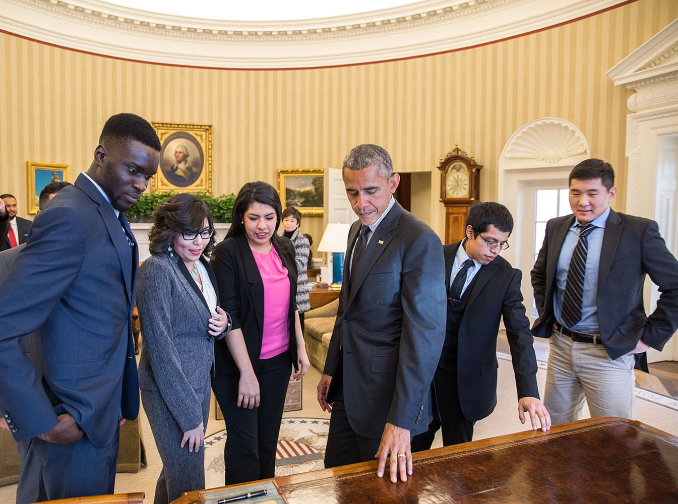 Image President Barack Obama meets with Dreamers, Feb. 4, 2015. (White House Photo by Pete Souza)