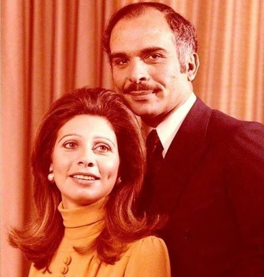 Image Queen Alia Al-Hussein, with King Hussein of Jordan