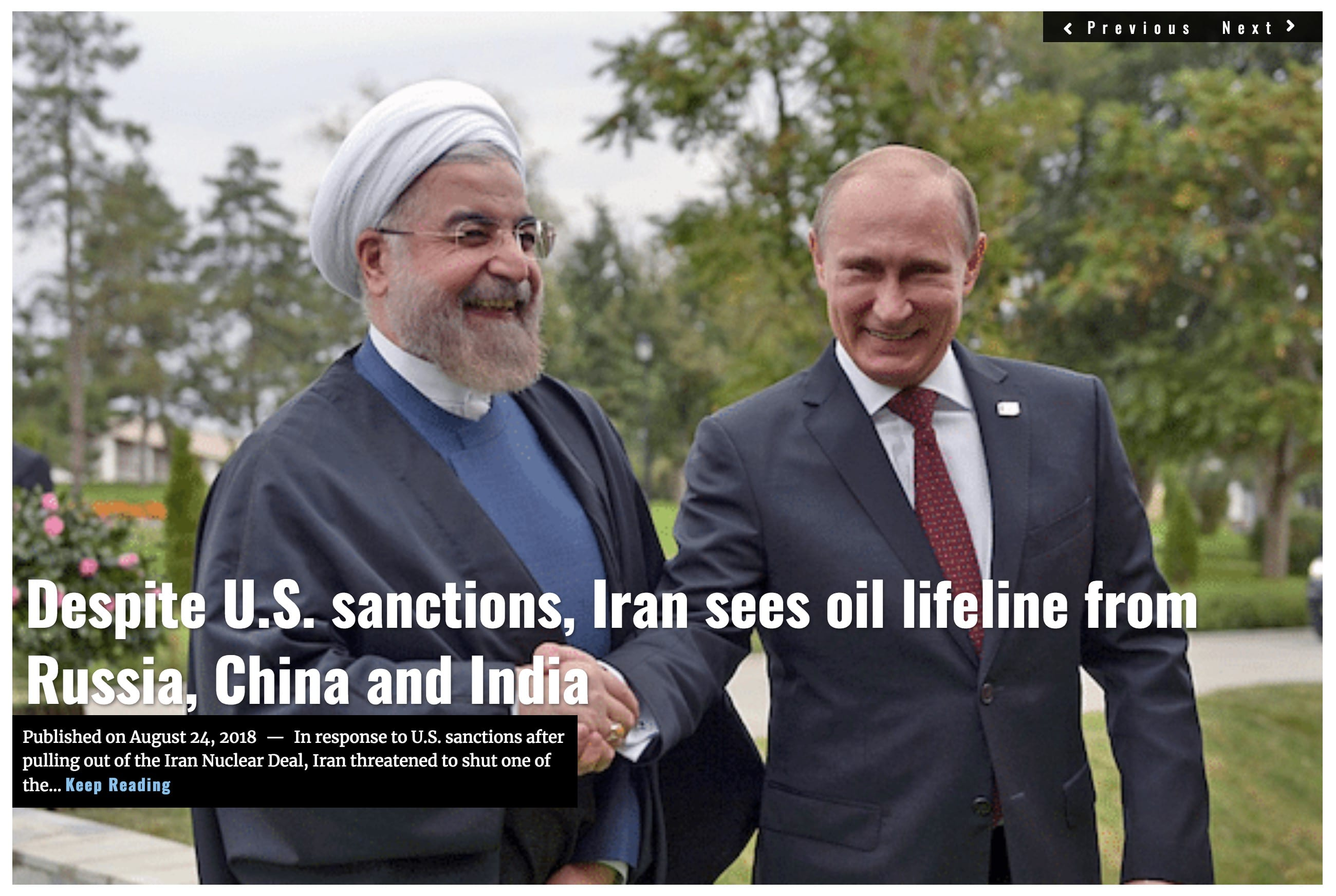 Image Lima Charlie News Headline Iran Oil Lifeline AUG 24 2018