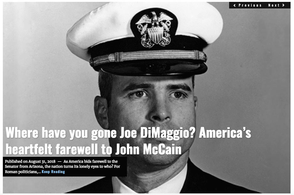 Image Lima Charlie News Headline John McCain AUG 31 2018