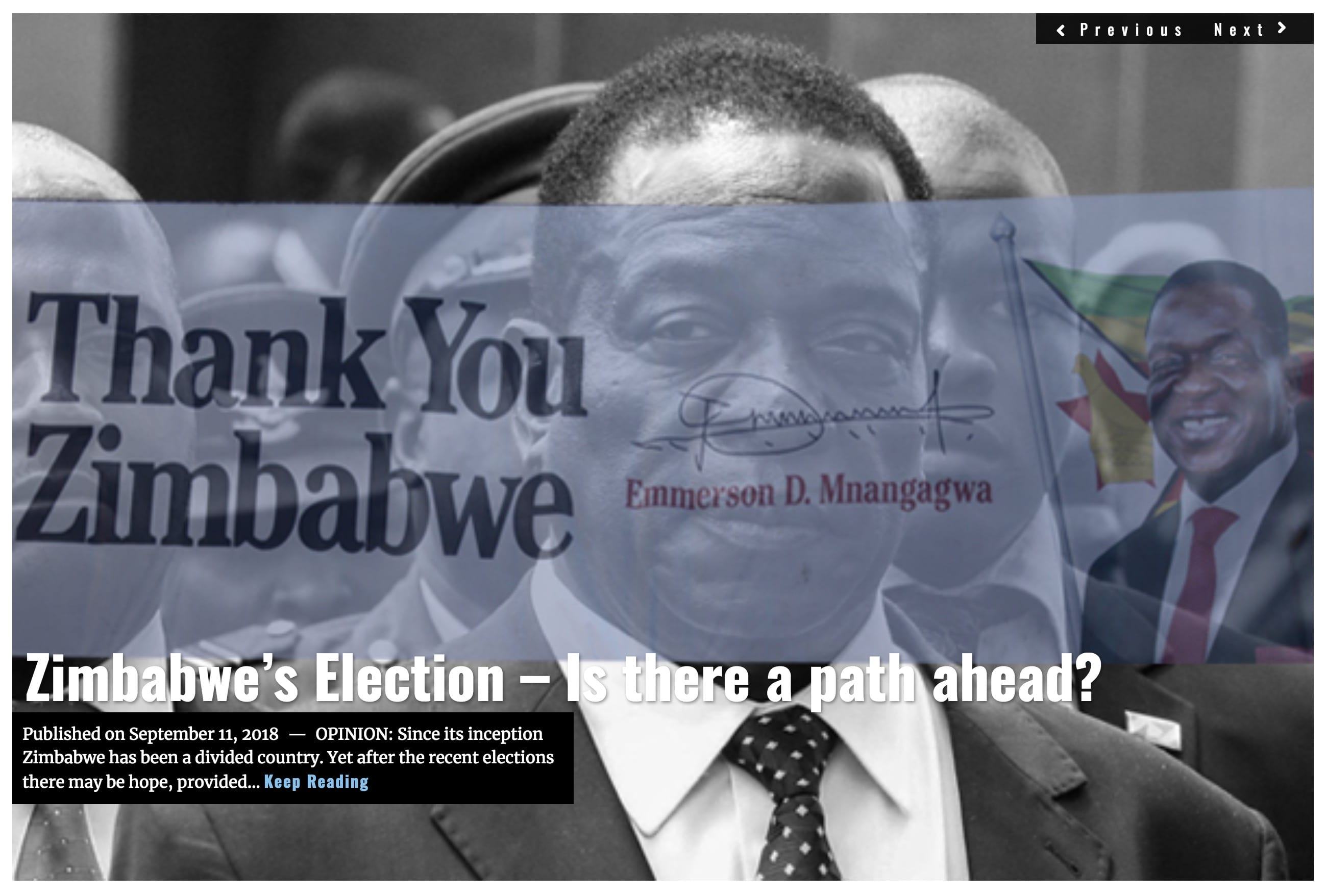 Image Lima Charlie News Headline Zimbabwe G. Busch SEPT 11 2018