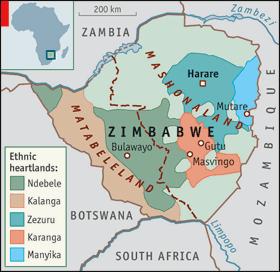 Image [2008 Zimbabwe map][The Economist]
