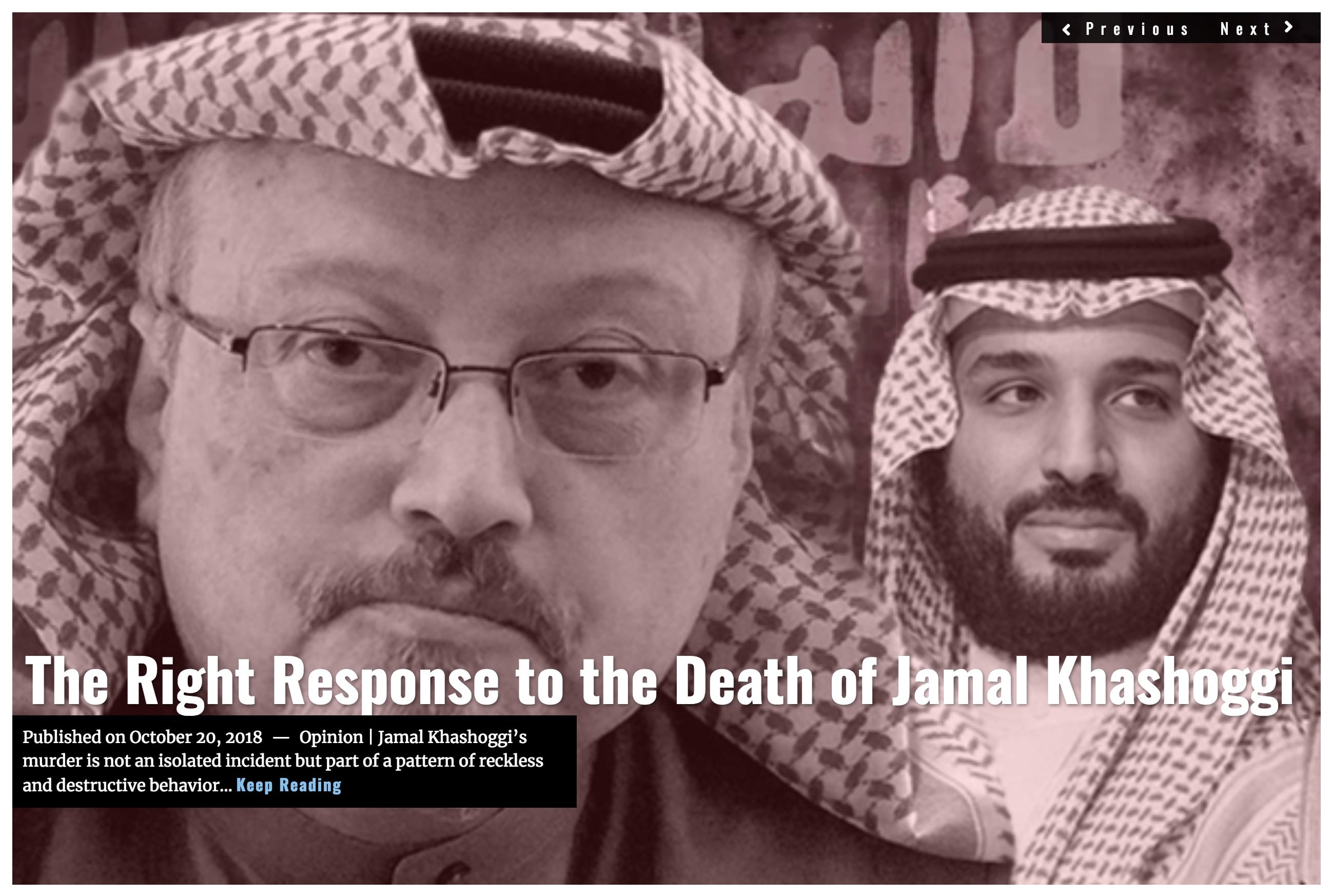 Image Lima Charlie News Headline - Death of Jamal Khashoggi OCT 2018