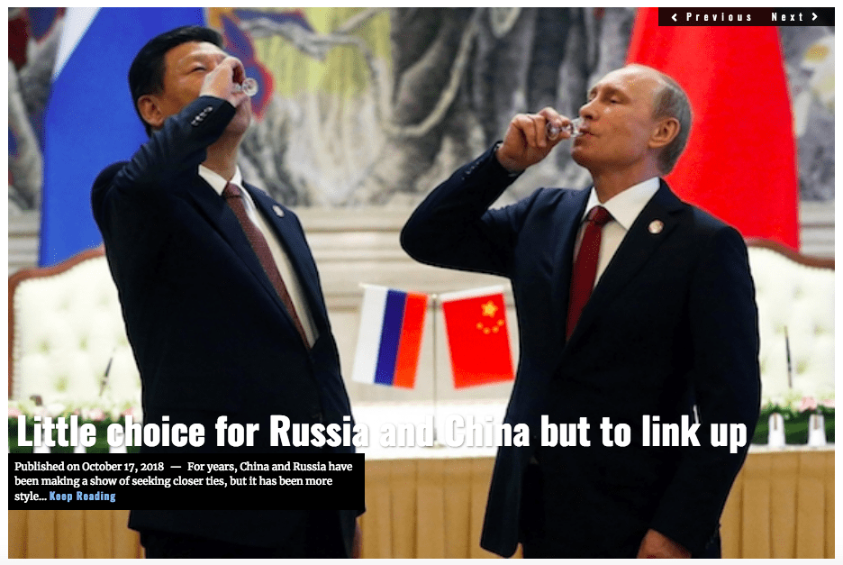Image Lima Charlie News Headline Little Choice for Russia and China OCT 17 2018