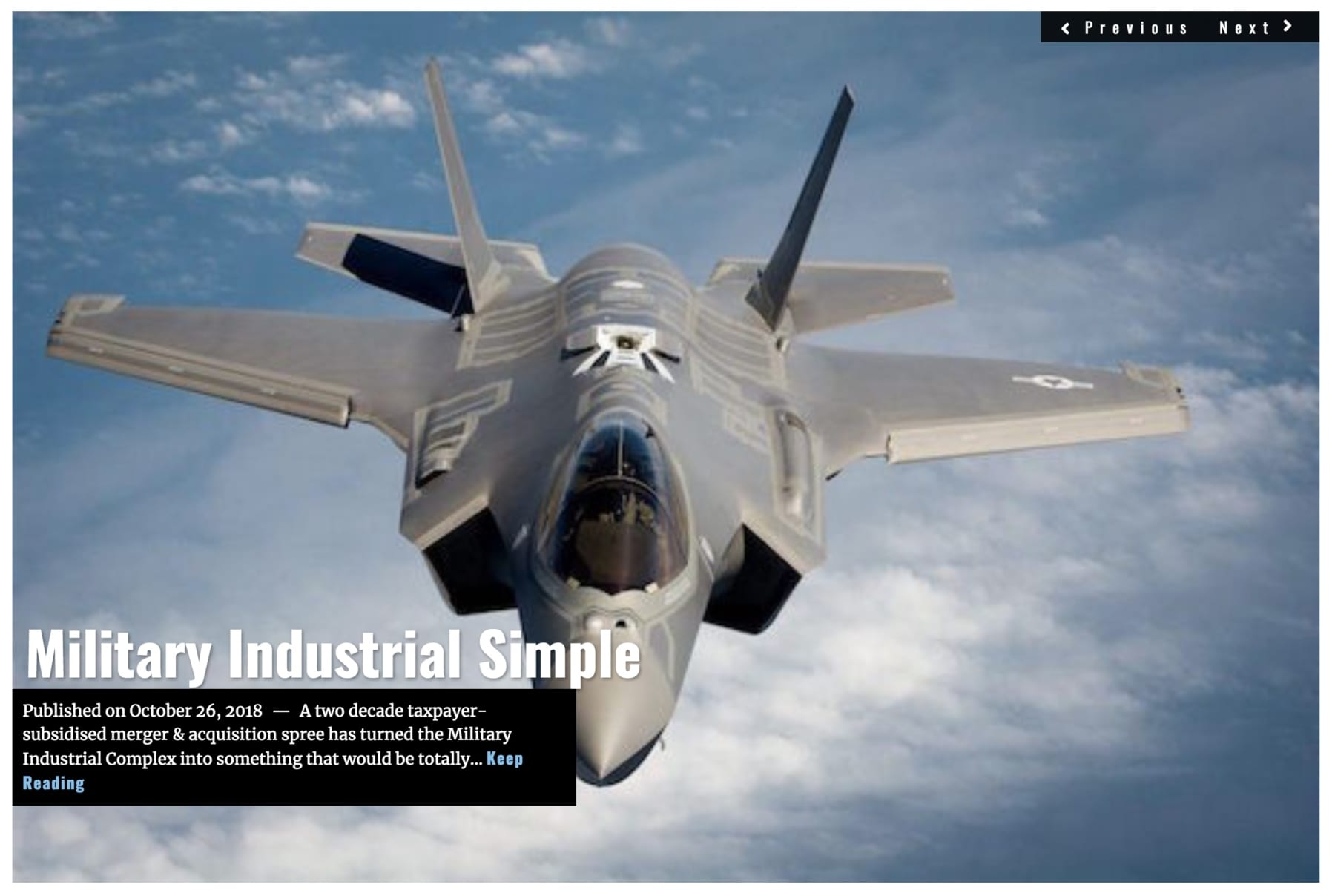 Image Lima Charlie News Headline Military Industrial Simple OCT 26 2018