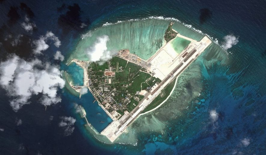 Image Woody Island, South China Sea. (Map Data: Google, DigitalGlobe)