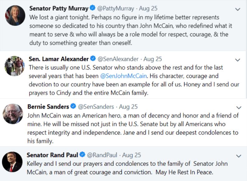 Image John McCain tweets