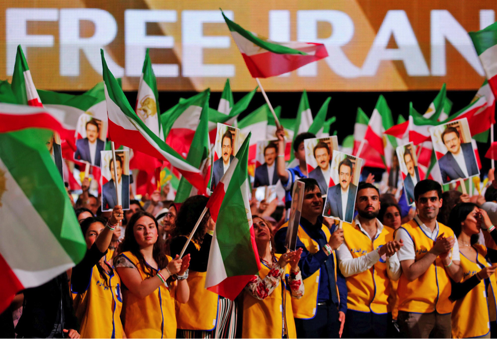 Image Supporters of the National Council of Resistance of         Iran rally in Villepinte, France on June 30, 2018. (Regis         Duvignau)