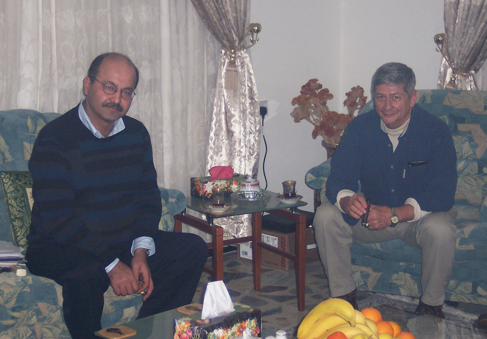 Image Author Col. Norvell DeAtkine (rt) Meeting with Kurdish leader Barham Salih, now President of Iraq.