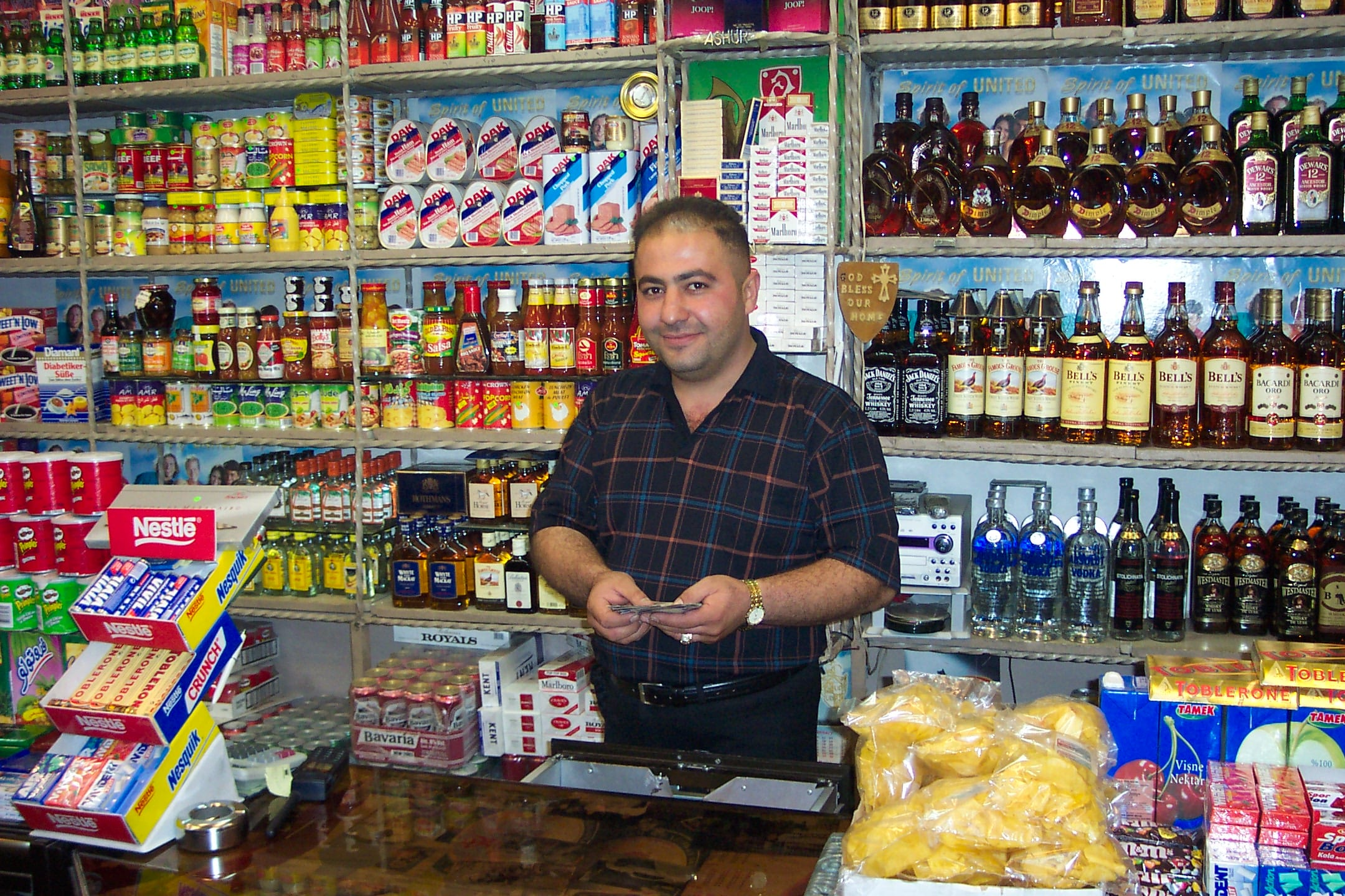 Image A liquor store in Suleimaniya, Iraqi Kurdistan [Photo: Col. Norvell DeAtkine]