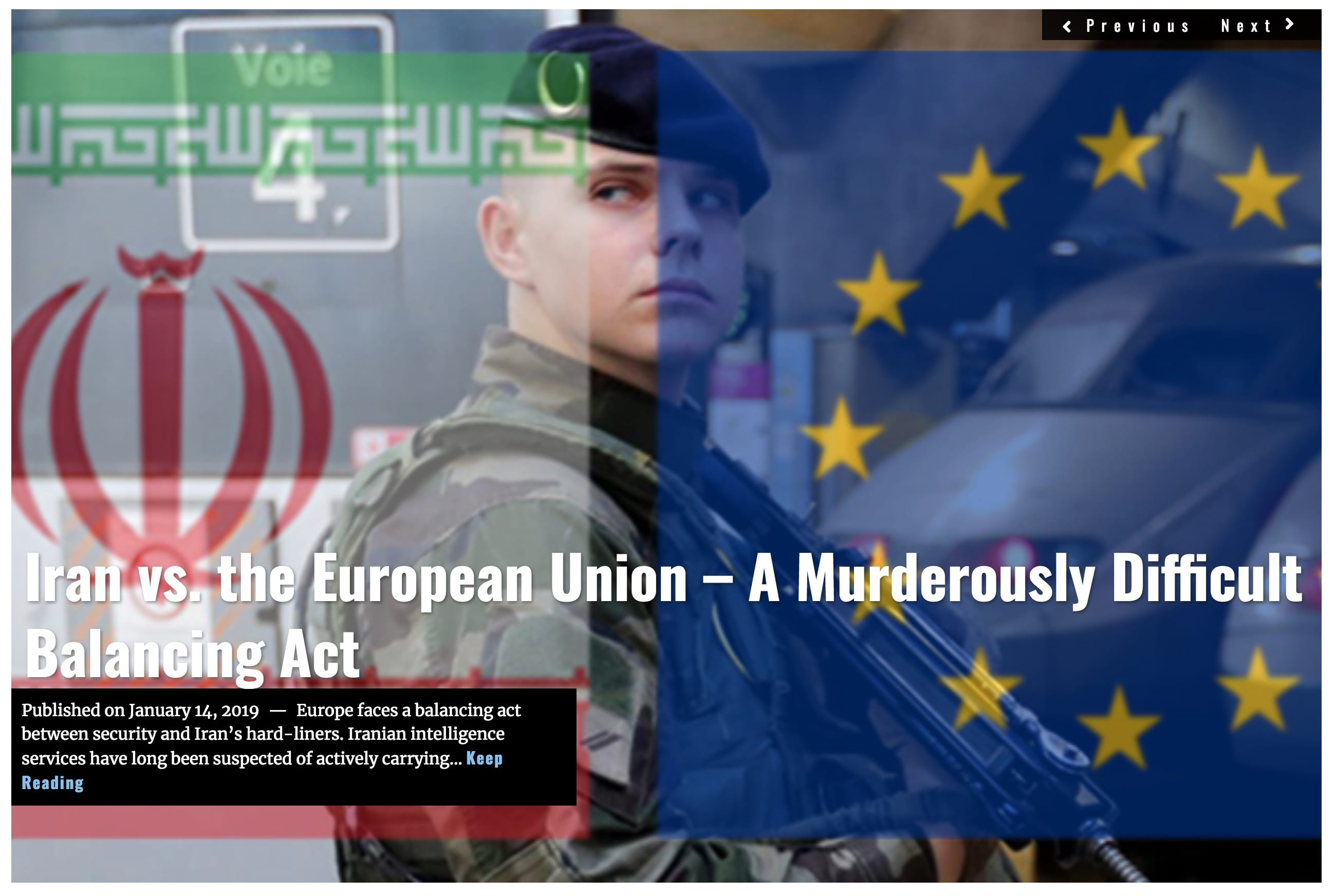 Image Lima Charlie News Headline Iran vs. the European Union - JAN 14 2019