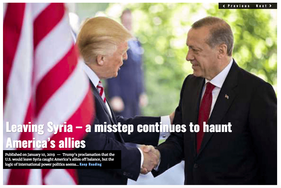 Image Lima Charlie News Headline Leaving Syria Trump's Mistake JAN 10 2019
