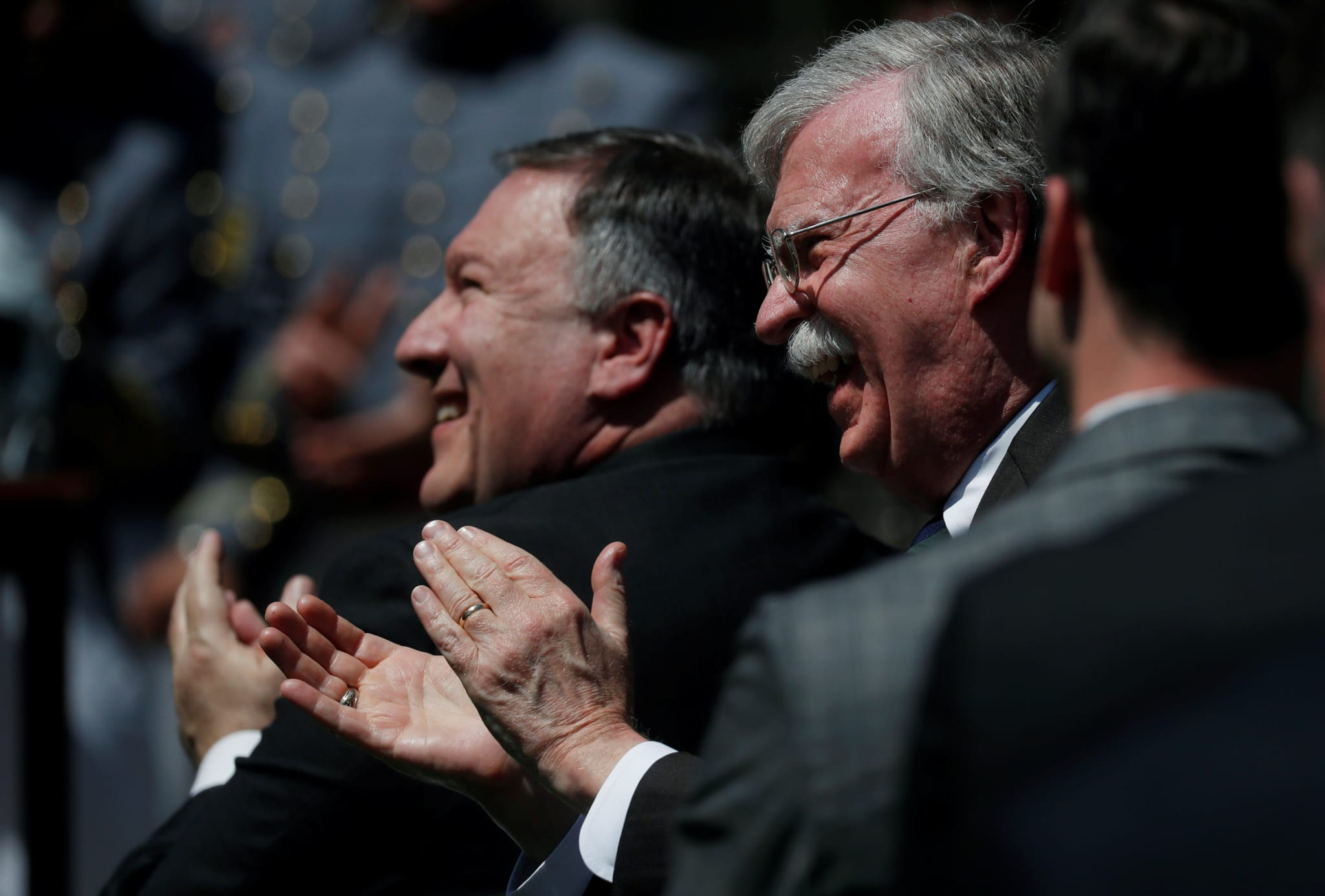 Image [U.S. Secretary of State Mike Pompeo and National Security Advisor John Bolton, Washington, May 1, 2018. REUTERS / Leah Millis]
