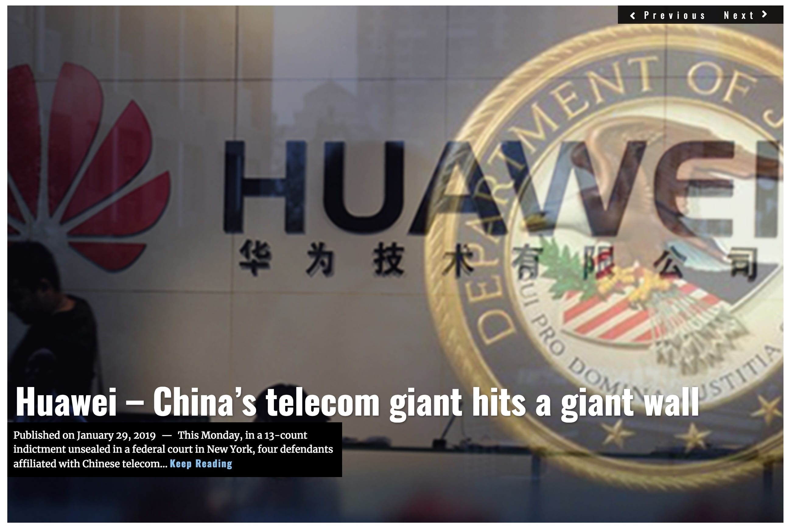 Image Lima Charlie News Headline - Huawei China