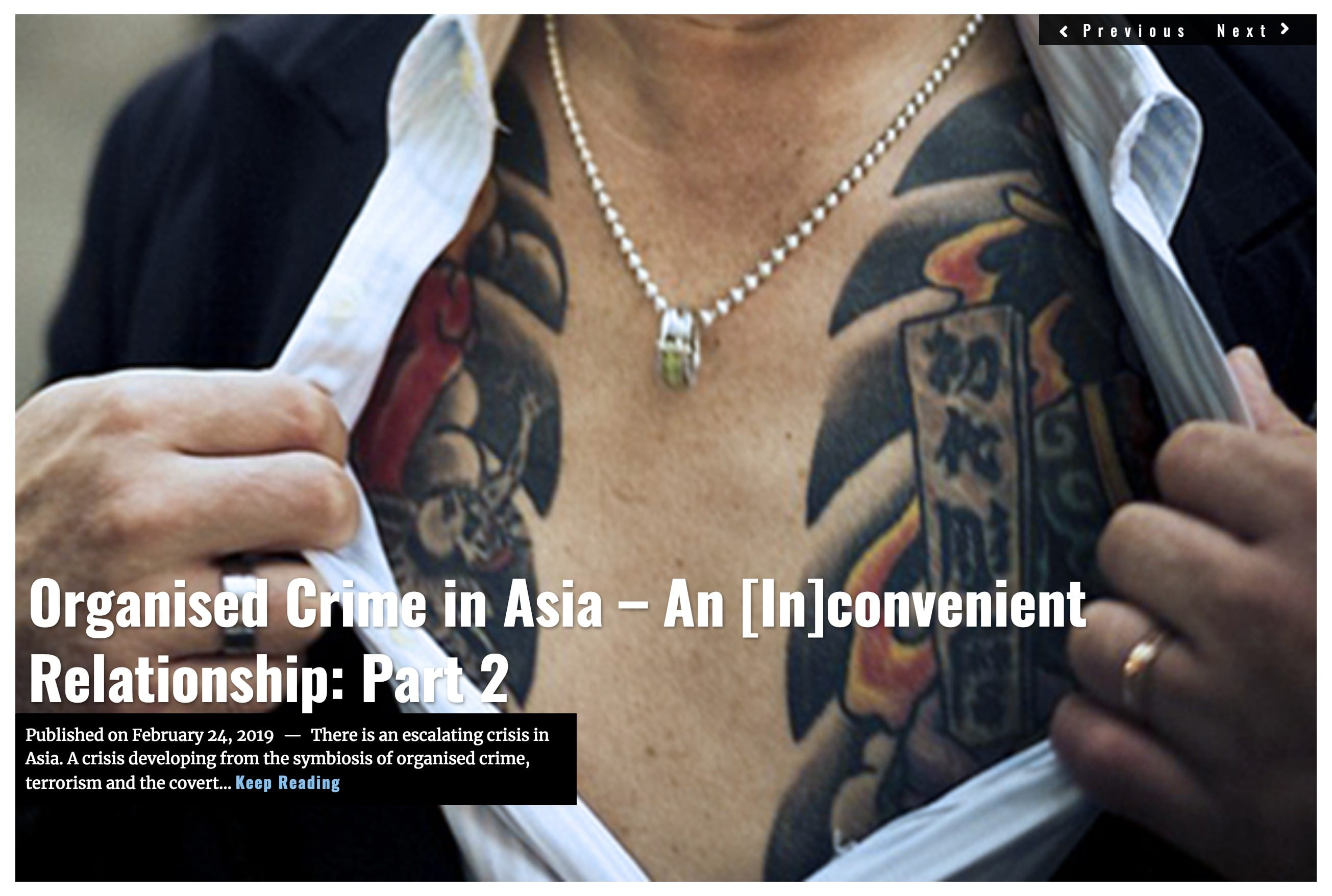 Organised Crime in Asia – An [In]convenient Relationship: Part 2