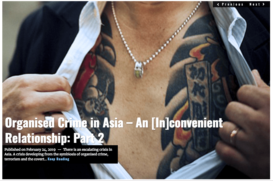 Image Lima Charlie News Headline Organised crime in Asia Part 2 G.Busch FEB 24 2019
