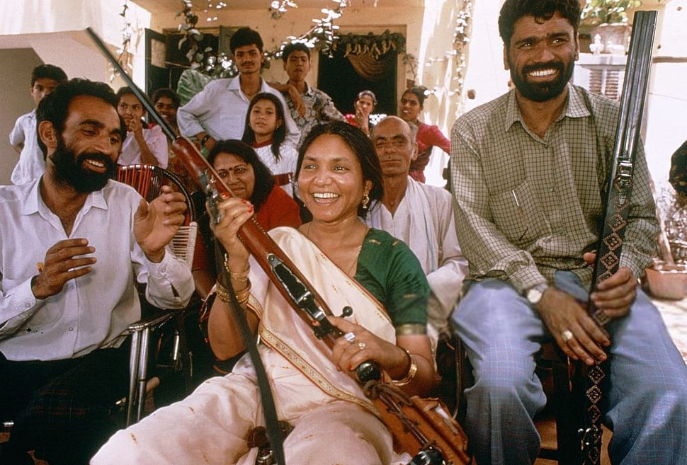 Image [Phoolan Devi - known as the Bandit Queen; she rose to fame after she allegedly massacred 22 Rajputs in Behmai village in February 1981, after the upper caste Rajputs of the village allegedly raped her for three weeks before she escaped. (Photo: Jean-Luc MANAUD / Gamma-Rapho)