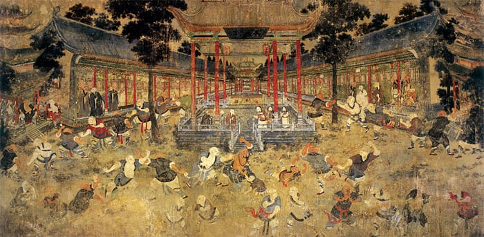 Image [Mural painting, Shaolin Monastery, Henan Province, China.]
