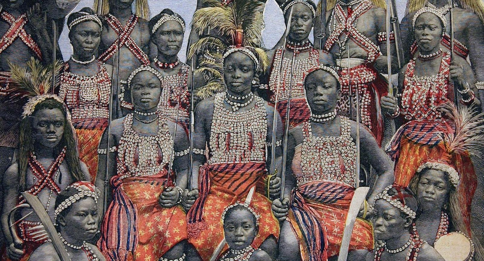 Image [The Dahomey Amazons, an all female military unit. (Photo of engraving by Chris Hellier)]