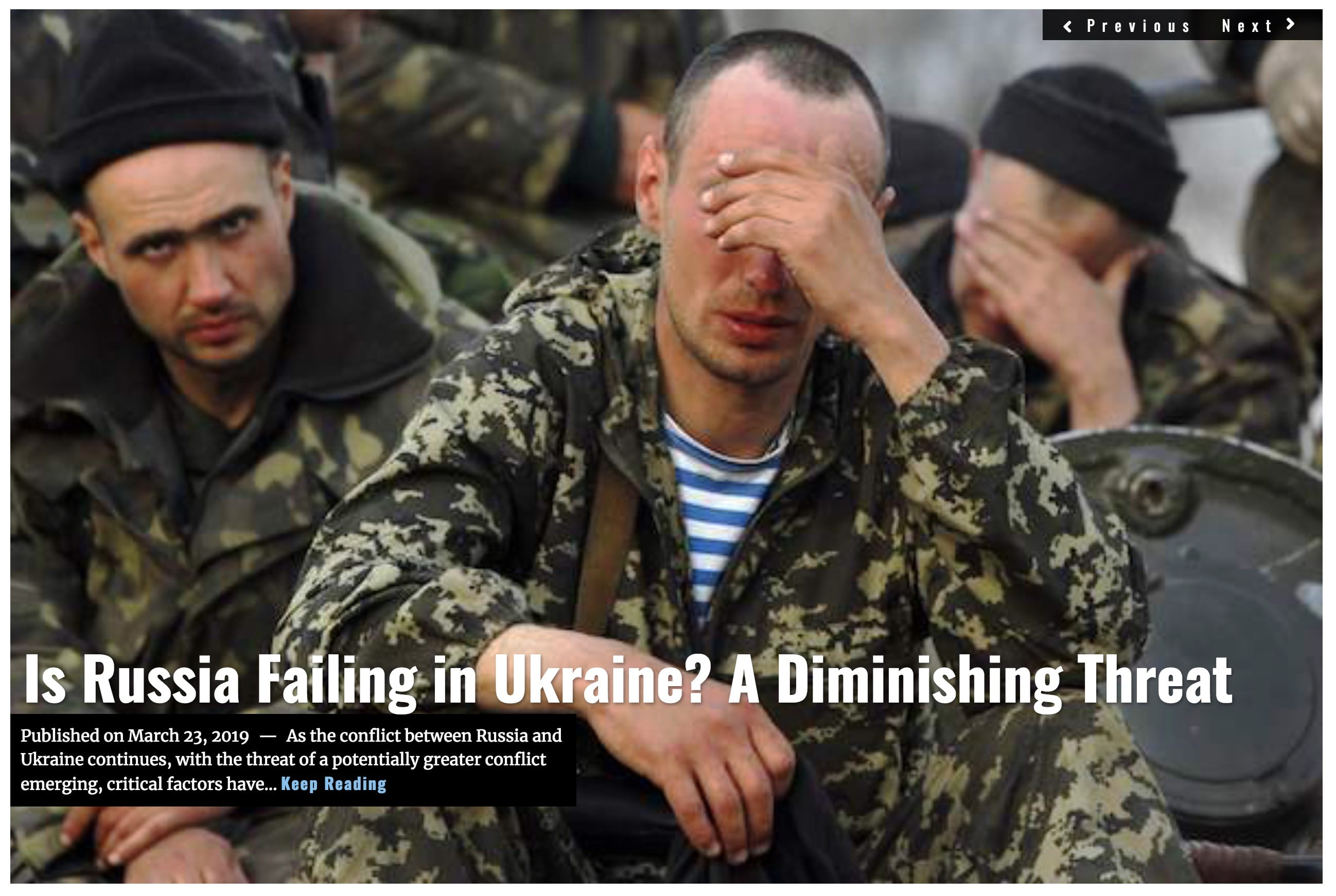 Image Lima Charlie News Headline Is Russia Failing In Ukraine - G.Busch MAR 23 2019
