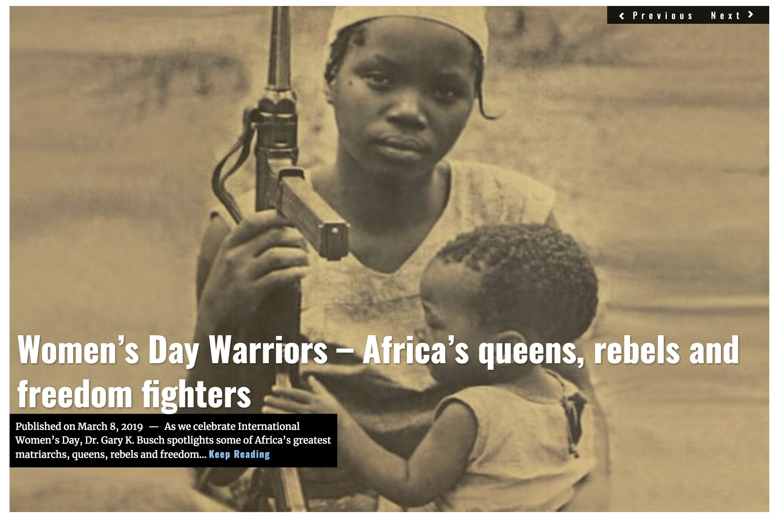 Image Lima Charlie News Headline Womens Day Africa MAR 8 2019